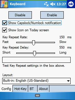 Think Outside Keyboard driver options